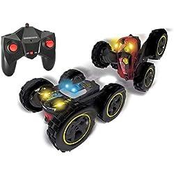 Dickie Toys RC Tumbling Flippy ferngesteuertes Spielzeugauto, Rotations- und Flip Funktion für draußen und drinnen mit Fernbedienung für Jungen und Mädchen, beleuchtet ab 6 Jahre