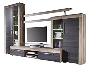 Furnline Boom Walnut Satin And Dark Brown Touchwood Tv