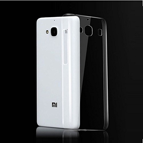 Dashmesh Shopping Ultra Thin 0.3mm Clear Transparent Flexible Soft TPU Slim Back cover Compatible for Xiaomi Redmi 2 Mi 2 Mi2 prime