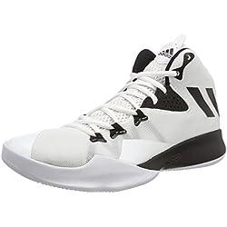 Adidas Dual Threat 2017, Zapatillas de Baloncesto para Hombre, Blanco Negbas/Ftwbla 000, 48 2/3 EU