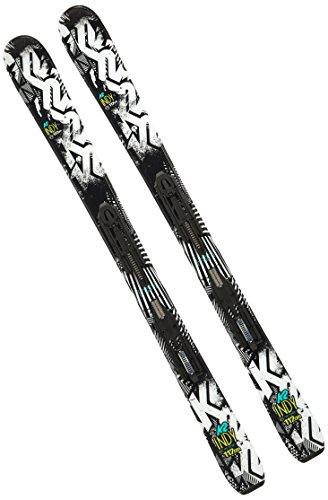 K2 Jungen Indy Kinder Ski - Marker Fastrak2 7 Bindung 1050806 - Schwarz - 112 cm -