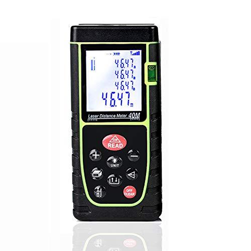 Flybiz 40m Telemetro Distanziometro Laser Professionale Misuratore di Distanza con Livello a Bolla, Precisione 1,5mm
