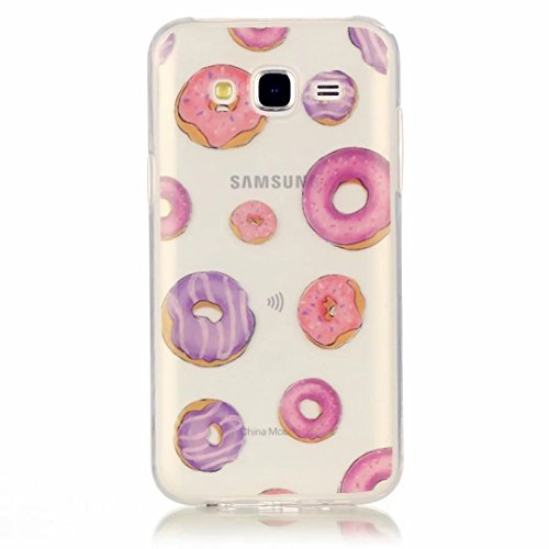 JINCHANGWU Samsung Galaxy J7 2016 Hülle,Liquid Crystal Soft Flex Silikon Clear Transparent Ultra Dünn Schlank Bumper-Style Handyhülle Kratzfest TPU Durchsichtige Schutzhülle für Case Cover Donut - Muster MIT (Schuhe Schokolade Jugend)