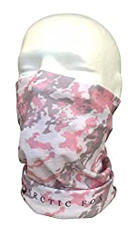 Pink & Grey Multifunctional Seamless Bandana Scarf By Arctic Fox Apparel: Unisex Neck Warmer, Ski Face Mask For Outdoor Activities – Versatile Snood, Headband For Snowboarding, Hiking, Camping, Running from Arctic Fox