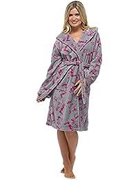 Femmes Mesdames vêtements de nuit Cat & nuage imprimer peignoir polaire à manches longues, diverses couleurs & tailles