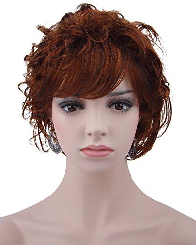 Spretty femminile Splendida Breve parrucca riccia Wavy