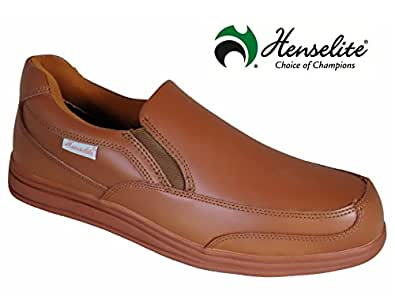 mens henselite victory slip on lawn bowling shoes in