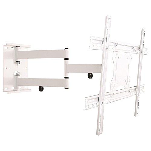 NEG Profi Universal TV-Wandhalterung Extender 6012 (weiß) Schwenk-, neig- und ausziehbar, Full Motion (bis max. VESA 600x400 und 45kg)