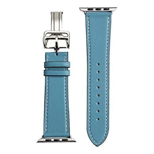 Huacat Neue Schmetterling Schnalle kortikale Riemen für Männer und Frauen extra weiches Echtleder Ersatzarmband