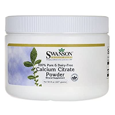 Swanson 100% Pure Calcium Citrate Powder (Dairy Free, 227g) from Swanson Health Products