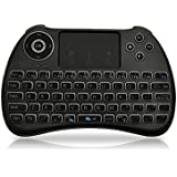 FAVI FE03 2. 4GHz Wireless USB Mini Keyboard Backlit With Mouse Touchpad - US Version (Warranty), Black (FE03-BL)