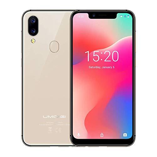 UMIDIGI A3 Pro Android 9 Smartphone ohne Vertrag günstig 5.7 Zoll 19:9 Display, Benachrichtigung LED, Global Version, Triple Slot, 16GB + 3GB Ram, Kamera(12MP+8MP) - Gold