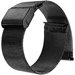 WINOMO Premium Quality Adjustable Stainless Steel Straight End Mesh Bracelet Watch Band Watch Strap 20mm
