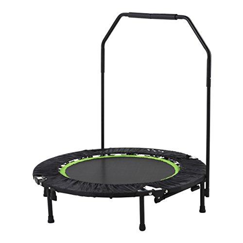 Tunturi Erwachsene klappbares Fitness Trampolin Ø 104cm mit stange und Randabdeckung / Jumping Fitness Trampolin / Rebounder