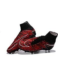 demonry zapatos para hombre Hypervenom Phantom II FG–Botas de fútbol de fútbol de color rojo