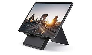 """Lamicall Tablet Ständer Verstellbare, Tablet Stand - Faltbarer Halter, Halterung, Dock für 2019 Pad Pro 9.7/10.2/10.5/12.9, Pad Air 2 3 4, Pad Mini 2 3 4, Samsung, andere Tab 5""""-13"""" - Schwarz"""