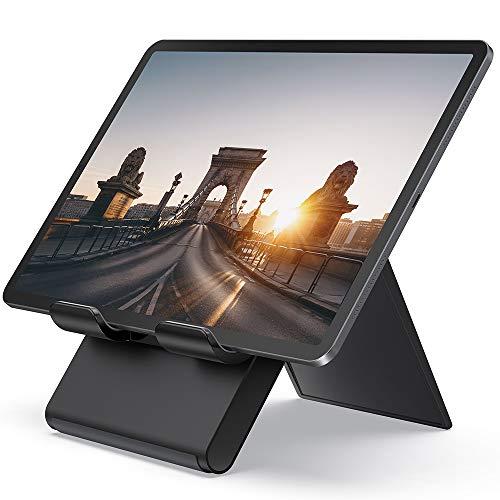 """Lamicall Tablet Ständer Verstellbare, Tablet Stand - Faltbarer Halter, Halterung, Dock für 2019 Pad Pro 9.7/10.2/10.5/12.9, Pad Air 2 3 4, Pad Mini 2 3 4, Samsung, andere Tab 5\""""-13\"""" - Schwarz"""