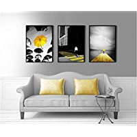 Modern Black And White Yellow Umbrella Decorative Wall Pictures For Children Canvas Painting Poster Home Decoration No Framed
