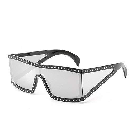 HYUHYU Unisex Platz Italien Sonnenbrille Für Frauen Diamant Beschichtung Sonnenbrille Schwarz Silber Shades Mode Brille