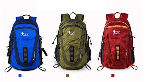 Outdoor-Klettern Tasche Männer und Frauen lässig Cross-Country-Wanderrucksack Vakuumpacksack Grün