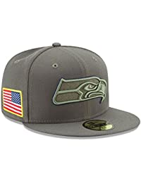 New Era 59Fifty Cap - Salute to Service Seattle Seahawks oliv