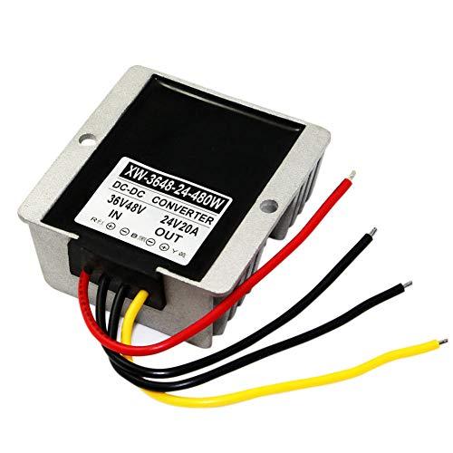Blackr DC36V/48V auf 24V Buck Konverter, 20A 480W Netzteil Spannung, Step Down Changer Adapter Regulator Module (V Dc-dc Buck 48 Konverter)