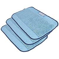 3 Paños de limpieza de microfibra de color azul para iRobot Brava de Hannets®