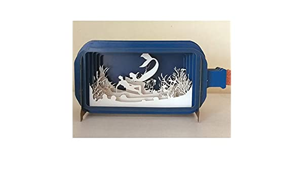 African Animals Message in A Bottle 3D Pop up Greeting Card