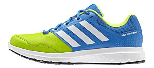 adidas Duramo Trainer, Scarpe Running Uomo Multicolore (Shock Blue/Ftwrr White/Semi Solar SlimeShock Blue/Ftwrr White/Semi Solar Slime)