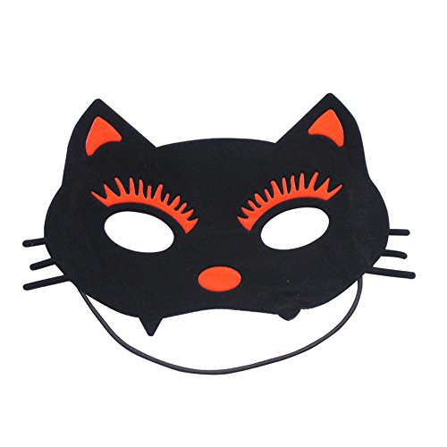 Maskerade,Kinder Masken Make-up Tanz Party COS Nette Partei Tier Katze Gesicht roten Maske Masquerade (Für Gesichts-make-up Halloween Katze,)