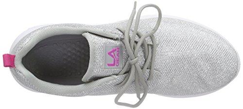 L.A. Gear Sunrise Damen Sneakers Silber (Silver-LT Grey 02)