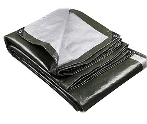 Zotee teli telone occhiellato telone impermeabile per esterni, resistente all'acqua, ideale per tettuccio per telone, copertura per camper o piscina,green_4x4m