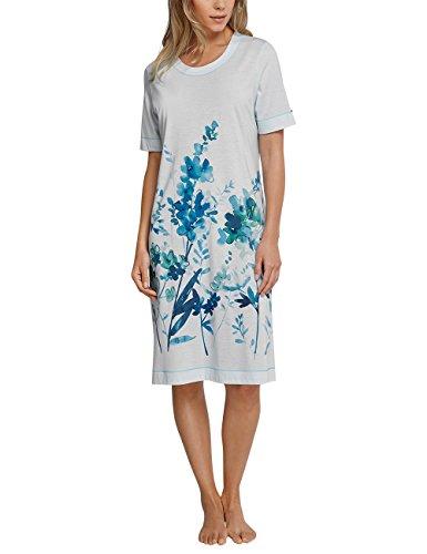 Schiesser Nachthemd 1/2 Arm, 100cm, Chemise de Nuit / Nuisette Femme Blau (Aqua 833)