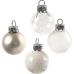 Creativ Company palle di Natale in vetro, d: 25 mm, 16 assortiti