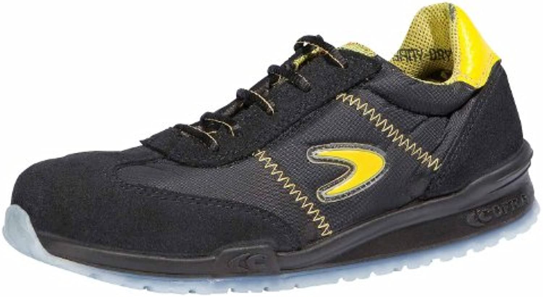 Cofra Sicherheitsschuhe S1P Owens Running sportliche Halbschuhe Große 45 schwarz/gelb 78400-000