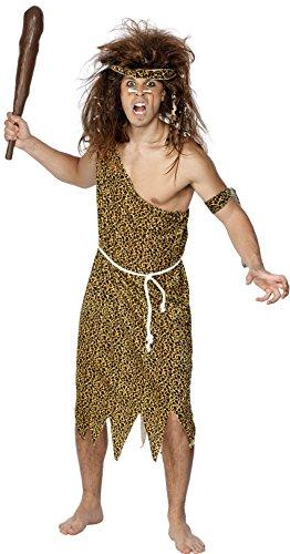 lenmensch Kostüm, Tunika, Haarband, Armband und Gürtel, Größe: M, 22451 ()