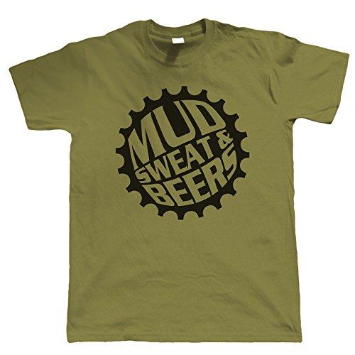Vectorbomb, Schutzblech Schwitz und Bier, Mountainbike T-Shirt (S bis 5XL) Militär-Grün