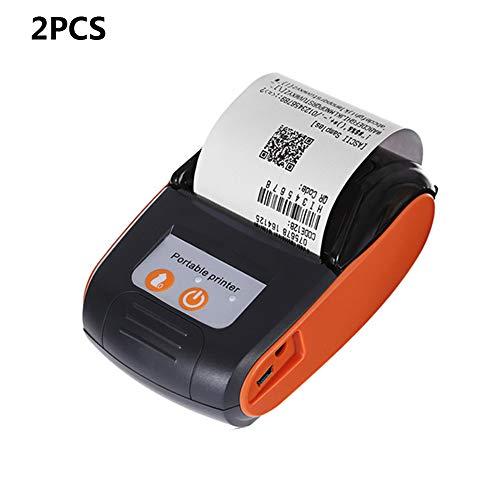ZUKN Mini Tragbare 58 MM Thermoetikettendrucker Handheld Barcode Drucker Drahtlose Bluetooth POS Quittungsdrucker Maschine Kompatibel Mit Android IOS Windows 2 Stücke,B