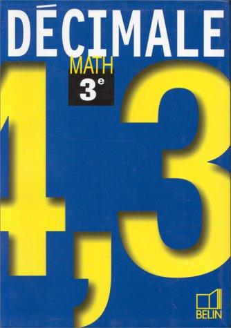 Math 3e - livre de l'élève