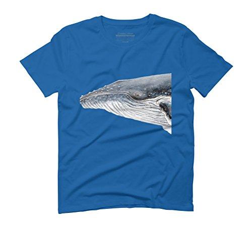 Humpback whale portrait Men's Graphic T-Shirt - Design By Humans Royal Blue