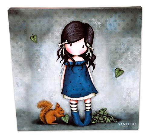 Gorjuss CV-02B-G Lienzo You Brought Me Love, 25 x 25 cm
