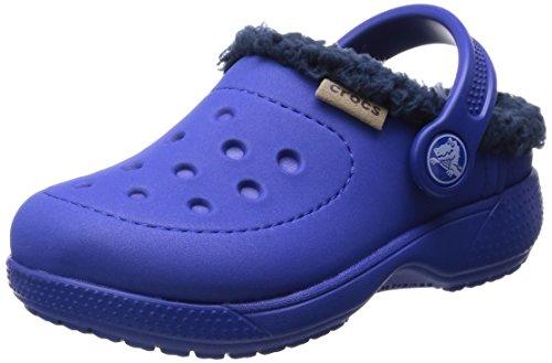 Crocs Hilo Lined Clog Kids, Zoccoli e sabot, Unisex - bambino Blu (Cerulean Blue/Navy)