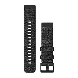 Garmin Heathered Black Nylon – Quick Fit – Fenix 6S – 20 mm – Fenix 5S/5s Plus