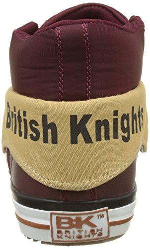 British Knights Roco, Baskets Hautes Homme Rouge (Dk Burgundy/Black)