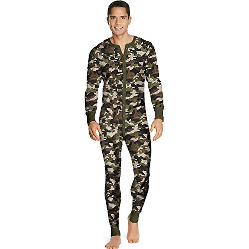 X-Temp Herren Bio-Baumwolle Thermal Union Anzug 3X-4X_Camo_4XL (Thermal Union Anzug)