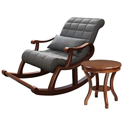 AZJ-AJR Folding Reclining Klappstuhl Tragbare Liege Sonnenliege Mit Kissen Fold Up Wooden Easy Lazy Relaxe Mit einem kleinen Tisch