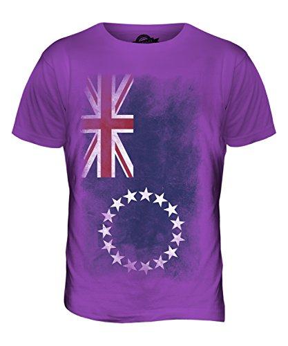 CandyMix Cookinseln Verblichen Flagge Herren T Shirt Violett