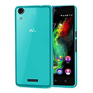 Wiko Rainbow Lite Selfie Clear One - Coque Protection arrière clipsable bleu turquoise smartphone Wiko Rainbow Lite - Accessoires pochette XEPTIO : Exceptional case !