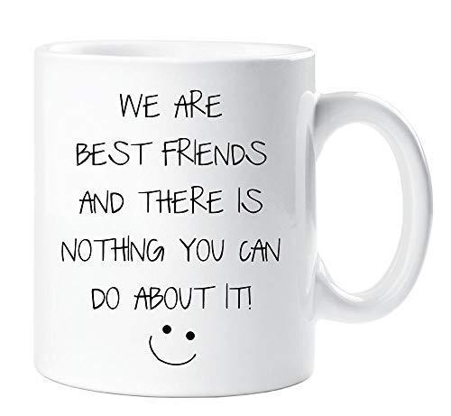 Somos los mejores amigos y no hay nada que puedas hacer taza regalo di