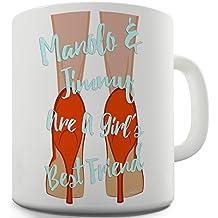 Trenzado Envy Manolo & Jimmy son el mejor amigo de una chica taza de cerámica de la novedad regalo
